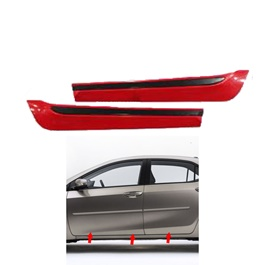 Toyota Corolla Door Moulding Red and Black - Model 2017-2020-SehgalMotors.Pk