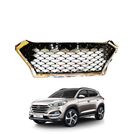 Hyundai Tucson Honey Comb Style Chrome and Black Front Grille - Model 2020 - 2021-SehgalMotors.Pk