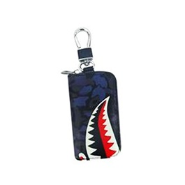 Shark Style Zipper Matte Leather Key Cover With Key Chain / Key Ring Pouch Style-SehgalMotors.Pk