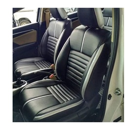 Hyundai Tucson Black With White Lines Seat Covers - Model 2020 - 2021-SehgalMotors.Pk