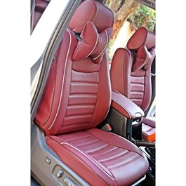 Hyundai Tucson Seat Covers Brown with White Lines - Model 2020-2021-SehgalMotors.Pk