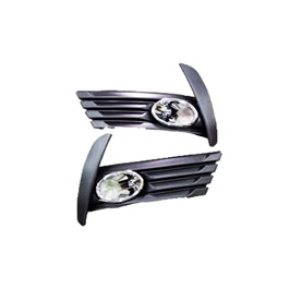 Toyota Corolla Face Lift DLAA Fog Lamps / Fog Lights with Chrome TY877-E - Model 2017-2020-SehgalMotors.Pk