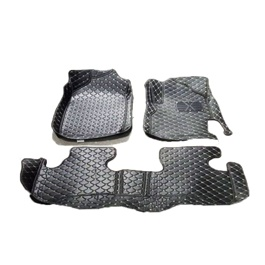 Honda BRV 7D Stitched Floor Mat Black 3 Pcs- Model 2017-2019	-SehgalMotors.Pk