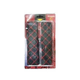 Universal Seat Belt Cover Red Black