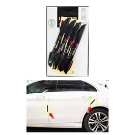 Hyundai Slim Style Door Guard Protectors - Black | Door Protection | Door Guards | Door Protection Gadget | Side Door Edge Protector-SehgalMotors.Pk