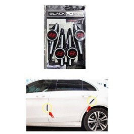 Hyundai Door Guards Protector White and Black | Warning Door Side Edge Protection Anti-Scratch Protector-SehgalMotors.Pk