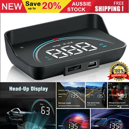 Universal Car HUD Head Up Display Projector OBDII Compact Small Version Showing Speed o meter on Windshield-SehgalMotors.Pk