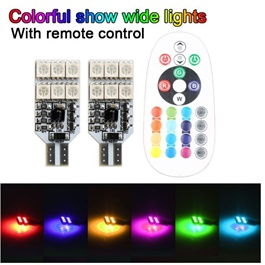 Big Version RGB Multi Color SMD Parking Light Flash with Remote | Led Light Bulb For Parking | SMD Car Exterior Parking Lamps Parking Lights Car Accessories    -SehgalMotors.Pk