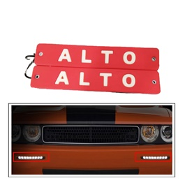 Alto Flexible LED DRL Red - Pair | Daytime Running Lights | Car Styling Led Day Light | DRL Lamp-SehgalMotors.Pk
