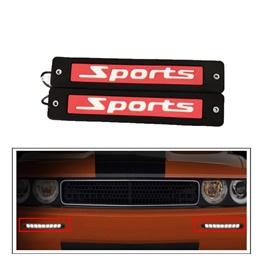 Sports Flexible LED DRL Red - Pair | Daytime Running Lights | Car Styling Led Day Light | DRL Lamp-SehgalMotors.Pk