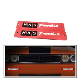 HKS Flexible LED DRL Red - Pair | Daytime Running Lights | Car Styling Led Day Light | DRL Lamp-SehgalMotors.Pk