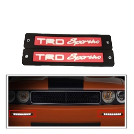 TRD Sportivo Flexible LED DRL Red - Pair | Daytime Running Lights | Car Styling Led Day Light | DRL Lamp-SehgalMotors.Pk