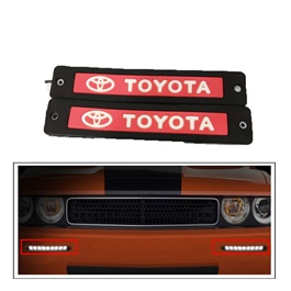 Toyota Flexible LED DRL Red - Pair | Daytime Running Lights | Car Styling Led Day Light | DRL Lamp-SehgalMotors.Pk