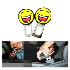 Emojis Emoticons Smileys PVC Seatbelt Clips - Multi-SehgalMotors.Pk