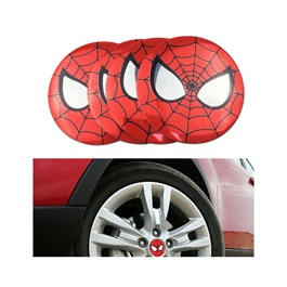 Spider Man Wheel Cap Logo - 4 Pieces | Wheel Center Cap | Wheel Logo | Wheel Center Hub Caps | Wheel Dust Proof Covers Badge logo-SehgalMotors.Pk