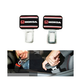 Honda Logo Complete Logo Red and Black Seat Belt Clips - Pair-SehgalMotors.Pk