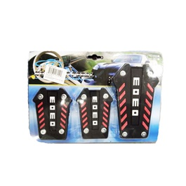 Universal MOMO Pedal Pad Covers Set - Multi Color Manual Transmission