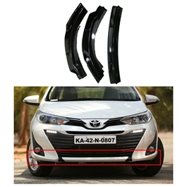 Toyota Yaris Front Complete Black Canards - Model 2020-2021 | Front Splitter Extention