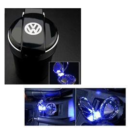 Volkswagen Portable Car Ashtray For Smokers with LED | Auto Cigarette Smoke Cup Holder -SehgalMotors.Pk