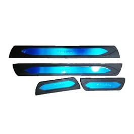 Toyota Yaris LED Sill Plates / Skuff LED panels Black and Chrome - Model 2020-2021-SehgalMotors.Pk