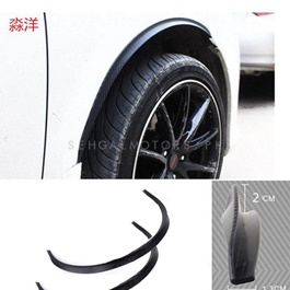D2 Fender Moulding Universal - 2PC | Car Arch Wheel Fender Flare Extension Protector Lip Anti-Scratch Soft Strip Wheel Lip Fender Flares Car Styling