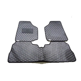 Suzuki Wagon R 7D Eco Floor Mat Black Stitched Multi - Model 2014-2020 | Car Interior Mats For Floor | Car Mats | Vehicle Mats | Foot Mat For Car | Custom Car Floor Mats