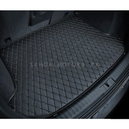 Honda Vezel 7D Trunk Mat Mix Thread Black - Model 2013-2018 | Trunk Boot Liner | Cargo Mat Floor Tray | Trunk Protection Mat | Trunk Tray Cover Pad-SehgalMotors.Pk