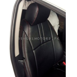 MG HS Japanese Leather Type Rexine Seat Covers Black - Model 2019 - 2020-SehgalMotors.Pk
