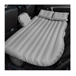 Car Back Seat Air Mattress Portable Air Bed Silver | Inflatable Backseat Bed-SehgalMotors.Pk