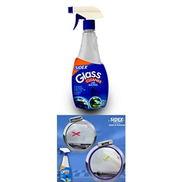 Sidex Glass Cleaner With Antifog 500ml | Window Glass Cleaner | Windshield Glass Cleaner | Hydrophobic | Coating Cleaner | Car Glass Cleaning-SehgalMotors.Pk
