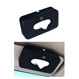 Honda Leather Car Sun Visor / Sunshade Tissue Box - Black | Tissue Holder | Modern Paper Case Box | Napkin Container Tray | Towel Visor Tissue Box-SehgalMotors.Pk