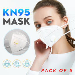 KN 95 Face Mask with Filter China - Pack of 5 - Protection against Coronavirus COVID 19 Virus Precaution Reusable Respiratory KN-95 KN95 Masks -SehgalMotors.Pk