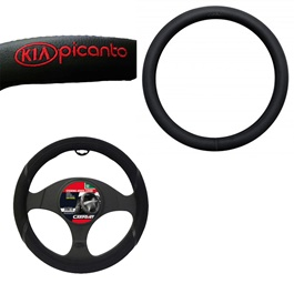 KIA Picanto Special Steering Cover With Logo | Long Life | Best Steering Cover -SehgalMotors.Pk