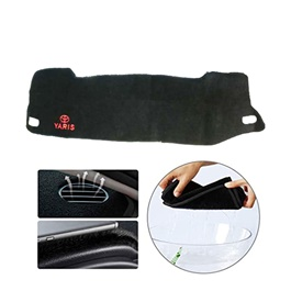 Toyota Yaris Dashboard Carpet For Protection and Heat Resistance Mix Logo Design  - Model 2020-2021