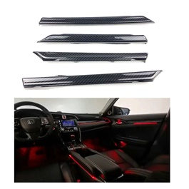 Honda Civic 20 Color Ambient Lights with Complete Interior Covered Including Middle Console and Side Cup Holders - Model 2016-2019-SehgalMotors.Pk