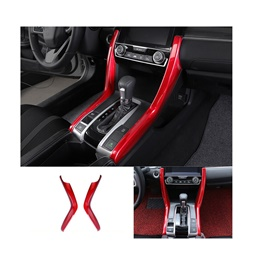 Honda Civic Red Console Cover Side Trims 2 Pcs - Model 2016-2021 ( 100303155 )-SehgalMotors.Pk