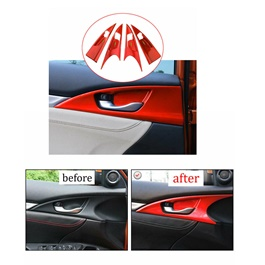 Honda Civic Red Inner Side Door Trim - Model 2016-2021 (100302807)-SehgalMotors.Pk