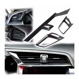 Honda Civic Carbon Fiber Front Vent Cover Trims - Model 2016-2021 (100303153)-SehgalMotors.Pk