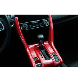 Honda Civic Red Console Cover Left Hand Drive - Model 2016-2021  (100302837)-SehgalMotors.Pk