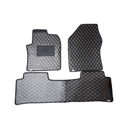 Toyota Prius 7D Eco Floor Mat Black Stitched Multi - Model 2016-2021 | Car Interior Mats For Floor | Car Mats | Vehicle Mats | Foot Mat For Car | Custom Car Floor Mats-SehgalMotors.Pk