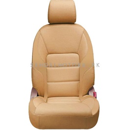 Changan Karvaan Japanese Leather Type Rexine Seat Covers Brown - Model 2018-2019