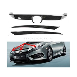 Honda Civic Front Carbon Fiber Trims - Model 2016-2020 (100302764)