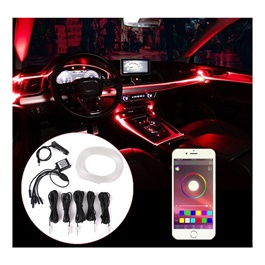 Car Atmosphere App controlled Ambient Multi Color Light  For Interior-SehgalMotors.Pk