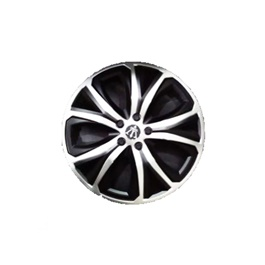Wheel Cover ABS Black Silver 13 Inches - WM1-1SL-13
