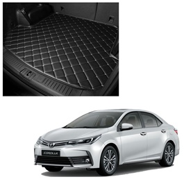 Toyota Corolla 7D Trunk Mat Mix Thread - Model 2017-2021 | Trunk Boot Liner | Cargo Mat Floor Tray | Trunk Protection Mat | Trunk Tray Cover Pad-SehgalMotors.Pk