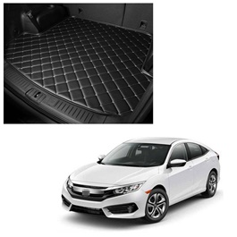 Honda Civic 7D Trunk Mat Mix Thread - Model 2016-2021 | Trunk Boot Liner | Cargo Mat Floor Tray | Trunk Protection Mat | Trunk Tray Cover Pad-SehgalMotors.Pk