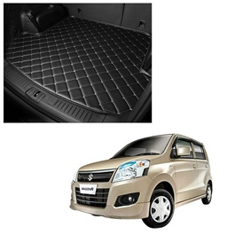 Suzuki Wagon R 7D Trunk Mat Mix Thread Black - Model 2014-2021 | Trunk Boot Liner | Cargo Mat Floor Tray | Trunk Protection Mat | Trunk Tray Cover Pad-SehgalMotors.Pk