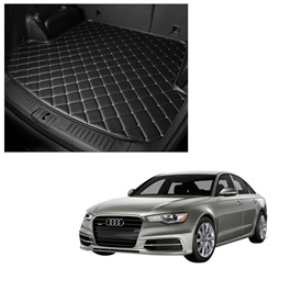 Audi A6 7D Trunk Mat Mix Thread Black - Model 2011-2018 | Trunk Boot Liner | Cargo Mat Floor Tray | Trunk Protection Mat | Trunk Tray Cover Pad-SehgalMotors.Pk