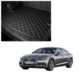 Audi A5 7D Trunk Mat Mix Thread Black - Model 2017-2018 | Trunk Boot Liner | Cargo Mat Floor Tray | Trunk Protection Mat | Trunk Tray Cover Pad-SehgalMotors.Pk