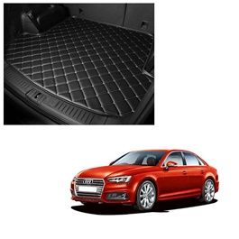 Audi A4 7D Trunk Mat Mix Thread Black - Model 2016-2018 | Trunk Boot Liner | Cargo Mat Floor Tray | Trunk Protection Mat | Trunk Tray Cover Pad-SehgalMotors.Pk